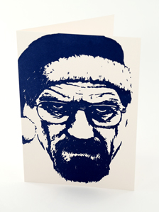 Christmas card featuring Walter White from Breaking Bad