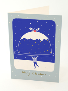 Christmas card by Rose Blake featuring an Xmas pudding