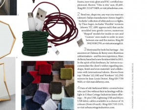 World of Interiors magazine's Antennae featuring smartphone cables