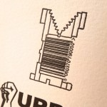 Letterpress greetings cards - barcode