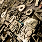 Print typography - loose metal type