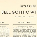 Bell Gothic font