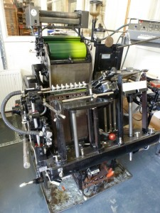Personalised cards on a Heidelberg press