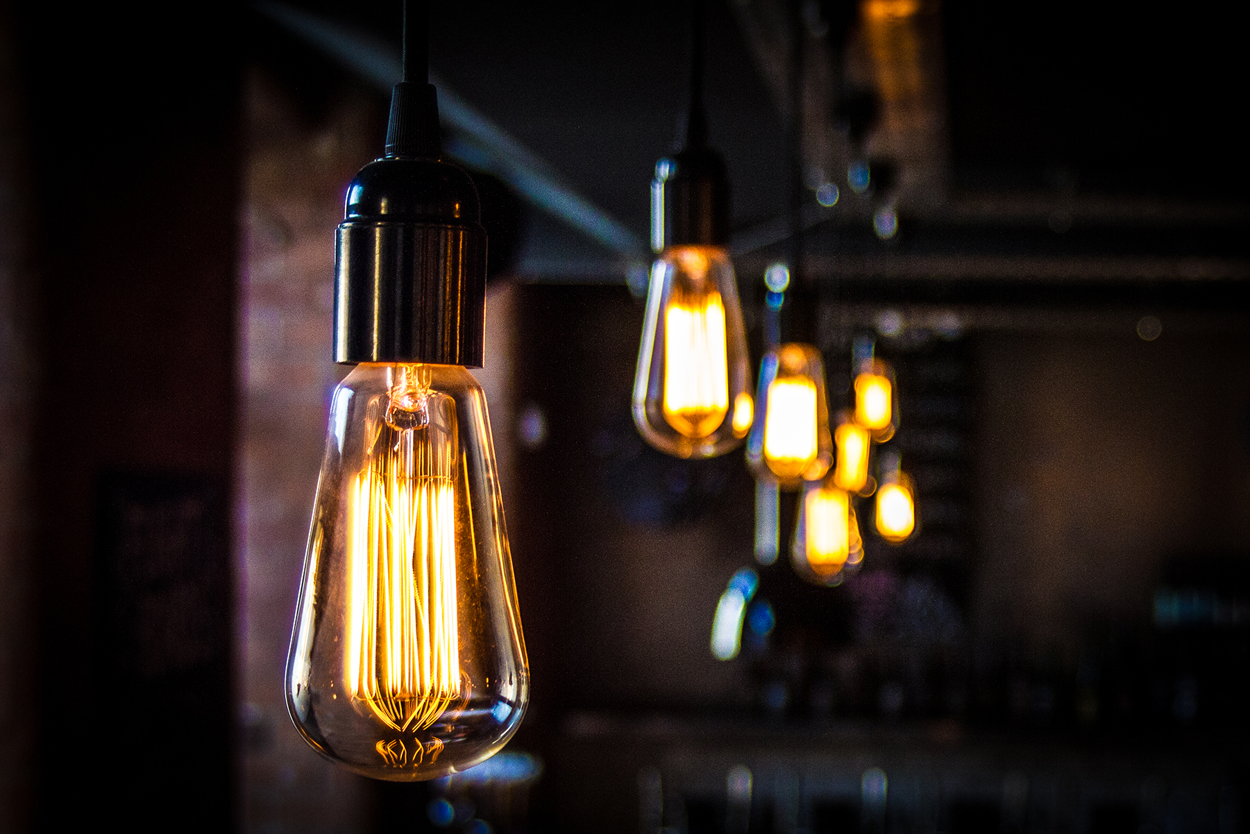 squirrel cage bulbs at BrewDog Nottingham