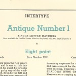 Antique number 1 - the Book of Intertype Faces