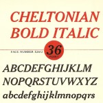 Cheltonian font - the Intertype Book of Faces