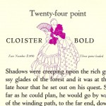 Cloister font - the Book of Intertype Faces