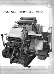 Thompson platen press