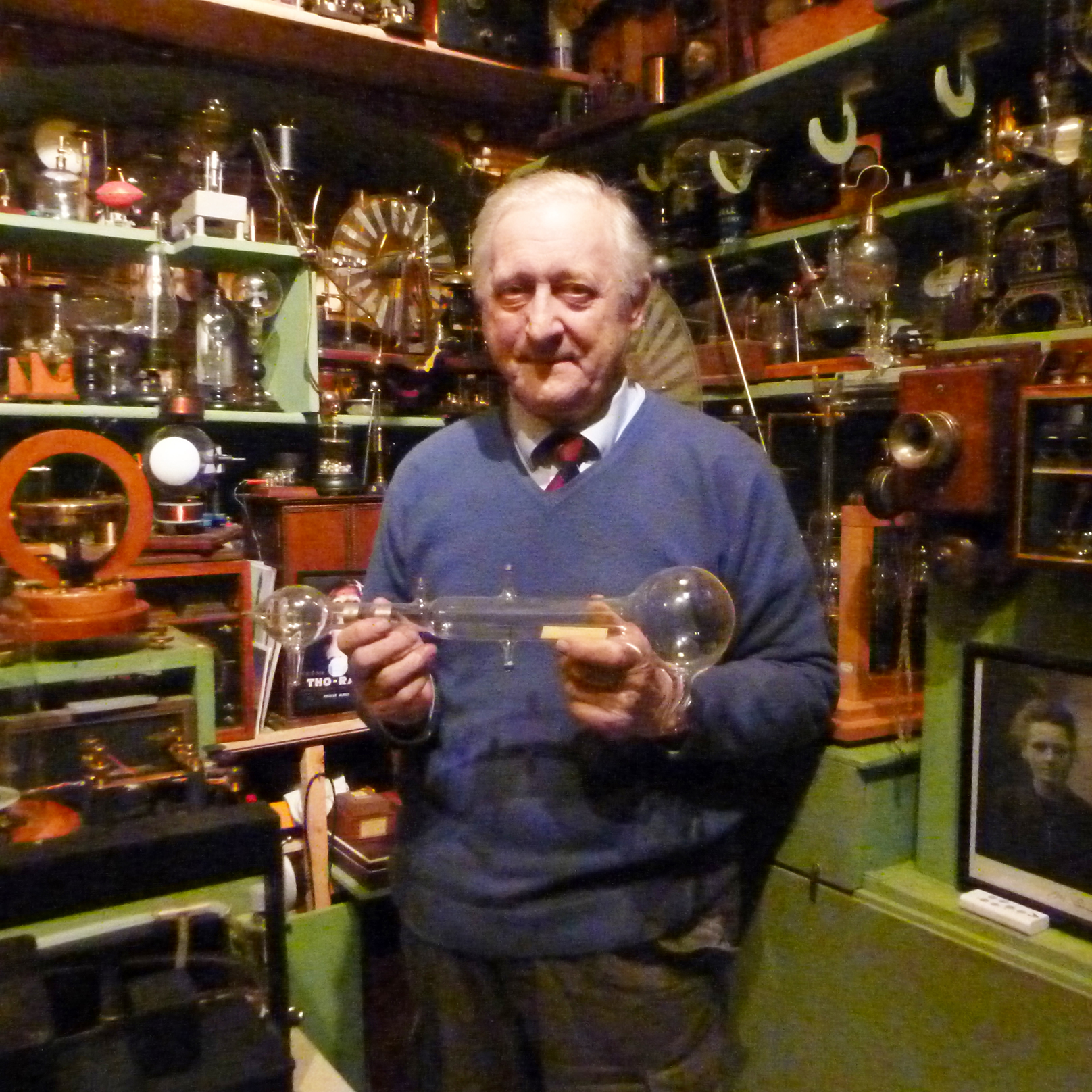 Tony Swift at his Museum of Victorian Science