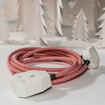 red and white extension lead