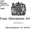 Front cover Trade Descriptions Act 1968