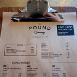 kraft paper menu from The Pound, Canterbury