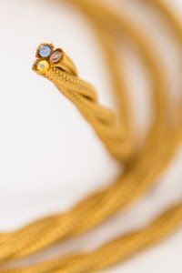 single insulated twisted lighting cable
