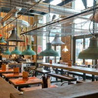 Factorylux lighting at the Banana Tree Restaurant