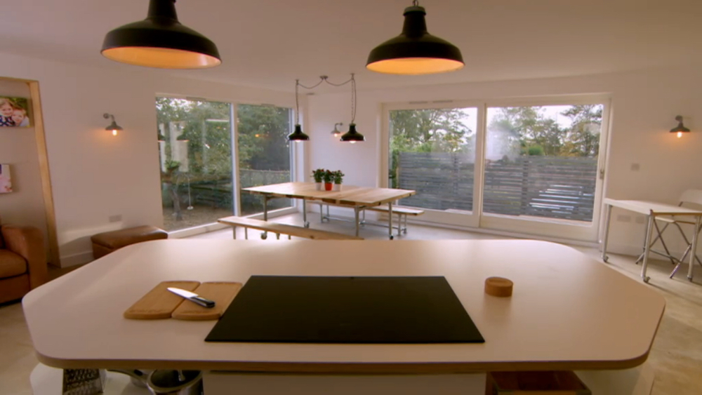 Grand Designs lighting - Wirral kitchen and dining lights
