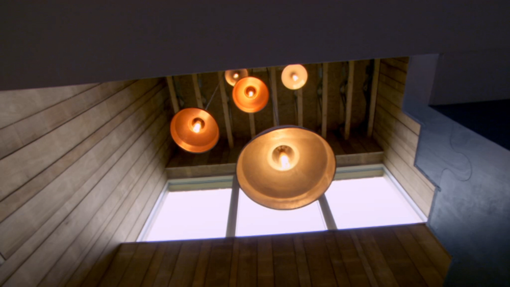 Grand Designs lighting - stairwell lamp shades