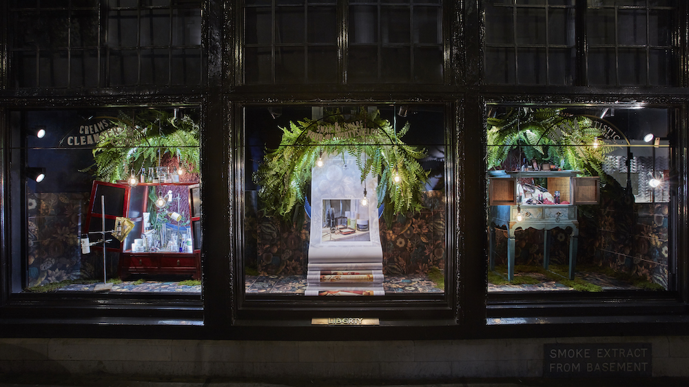 Liberty London lighting window displays