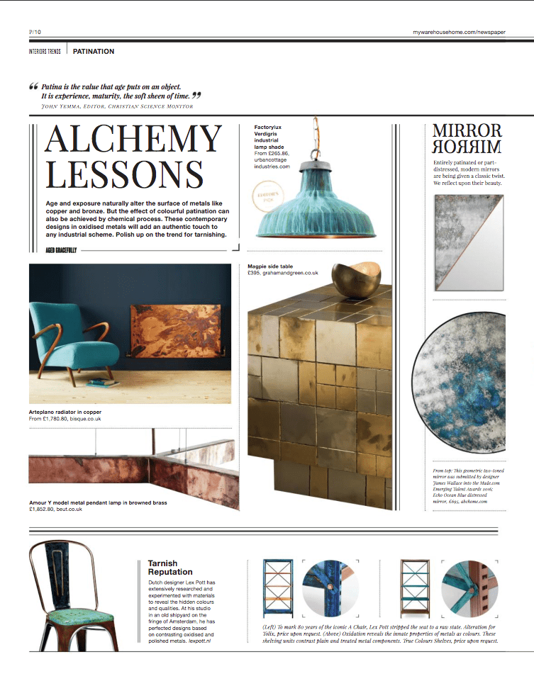 A page from Warehouse Home, featuring Urban Cottage Industries