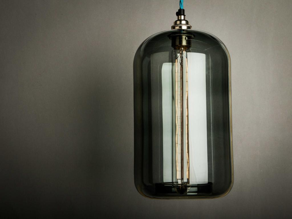 Smoked Grey Cylinder Shade