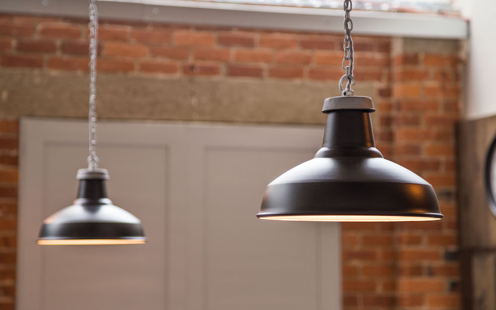 black enamel pendant lights