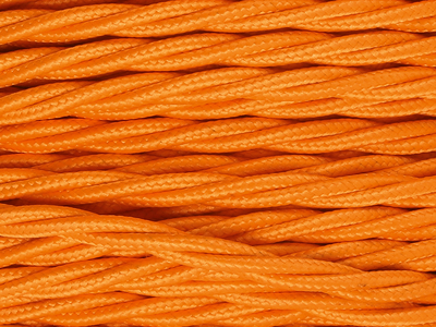 bright orange braided lighting cable