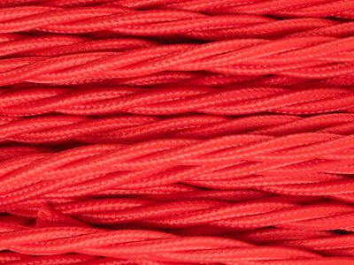 bright red braided lighting cable