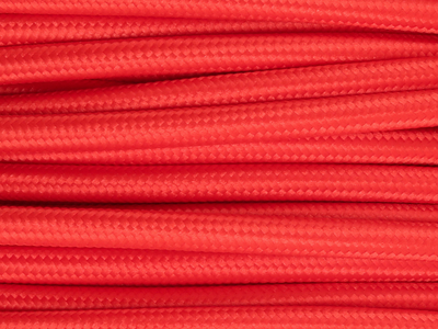 bright red fabric lighting cable