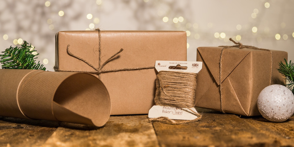 brown paper and string