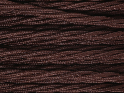 dark brown braided lighting cable