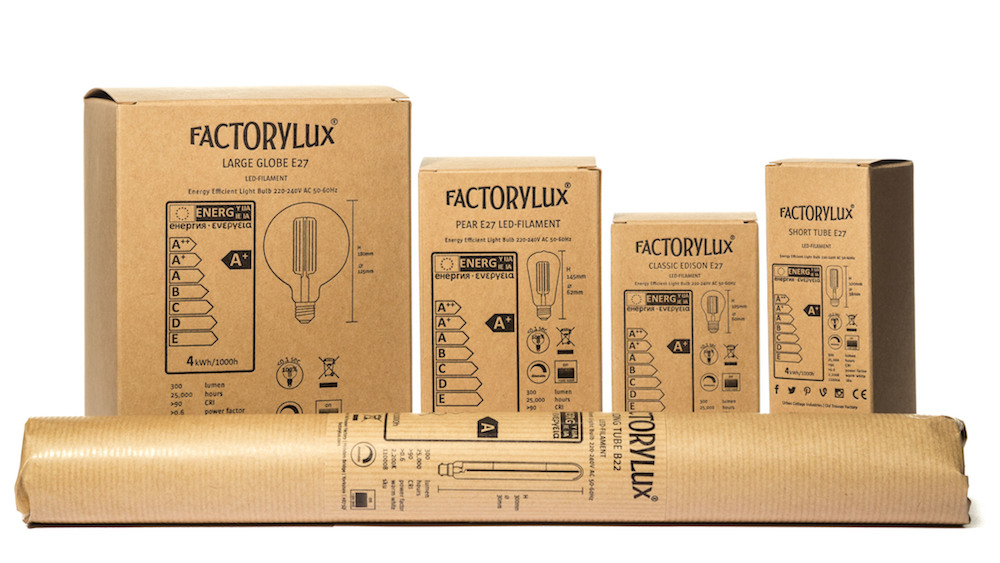 filament LED bulbs packaging