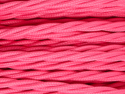 fuchsia pink braided lighting cable