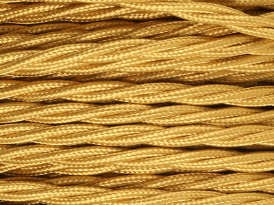 gold braided lighting cable