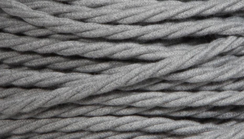 grey marl twist lighting cable
