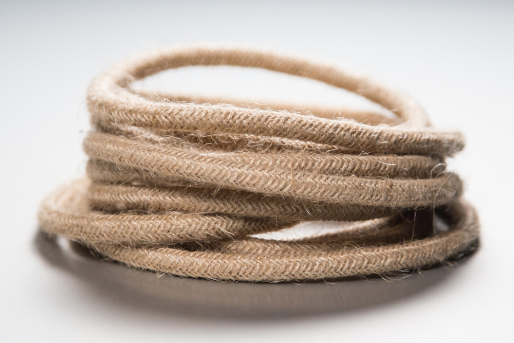 hessian fabric lighting cable