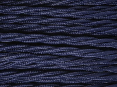 navy blue braided lighting cable