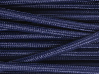 navy blue fabric lighting cable