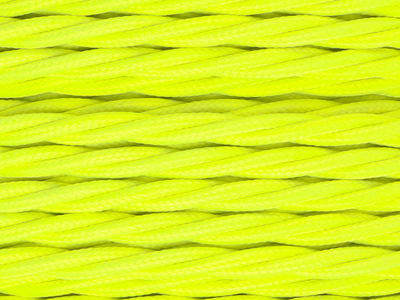 neon yellow braided lighting cable