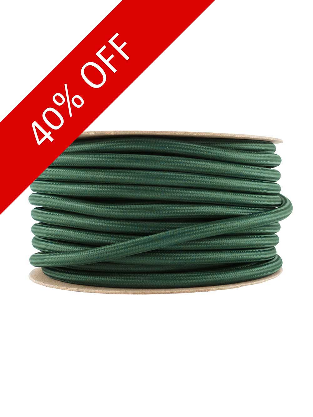 racing green fabric power cable