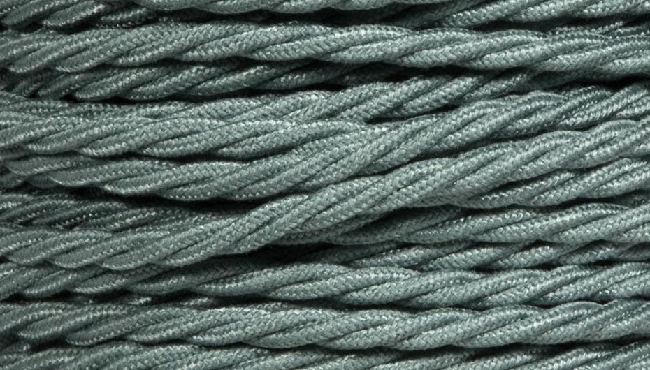 sage green twist lighting cable
