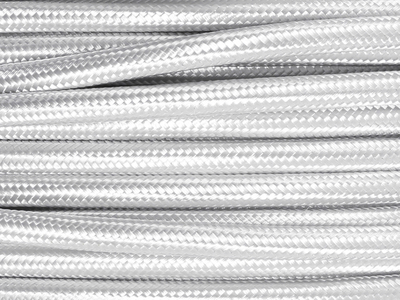 silver fabric lighting cable