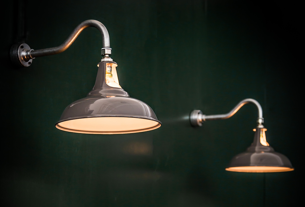 swan neck lights with Coolicon shades