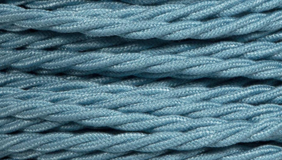 teal blue twist lighting cable