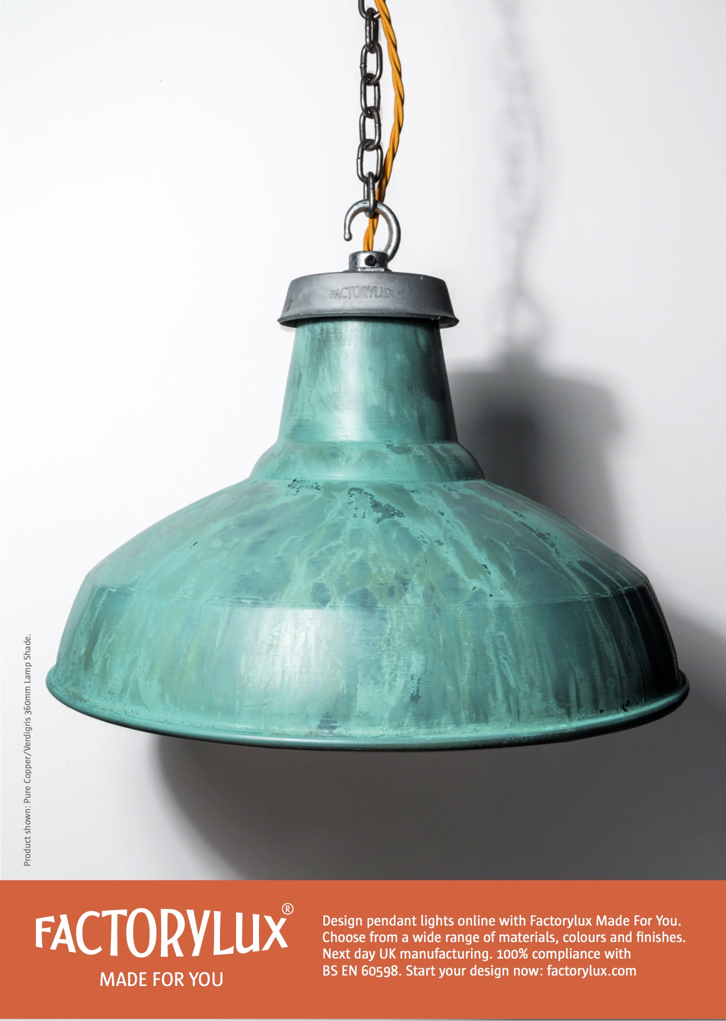 verdigris lamp shade by Factorylux