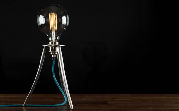 Lamp with Large Globe LED-Filament