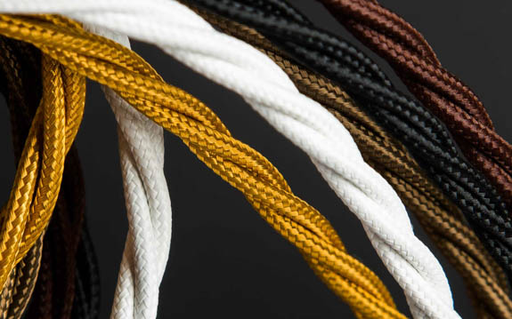 Twisted Fabric Lighting Cable | 3 Core