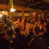 CARDPRESS# launch party - linotype, operators & vintage industrial lighting