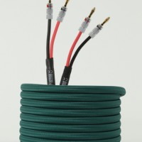 speaker cable - green with banana plugs