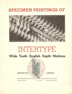 Book of Intertype Faces - information