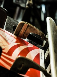 Mondo*arc cards on press for numbering