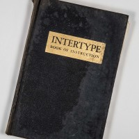 The front cover of the Intertype Book of Instruction